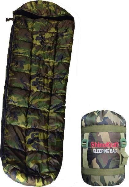 RHINOKraft Jungle Print Hiking and Camping Waterproof Inner Warm Sleeping Bag