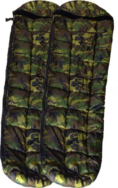 RHINOKraft Jungle Print Hiking and Camping Waterproof Inner Warm Pack of 2 Sleeping Bag
