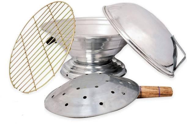 Quantech Aluminum Tandoor Baking Oven, 25 Cm X 25 Cm X 35 Cm,Silver Gas Tandoor,Food Steamer (Aluminium, 1 - Piece) Food Steamer