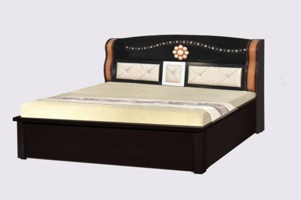 POJ Edeyna King Size Bed With Full Hydraulic Ample Storage Engineered Wood King Hydraulic Bed