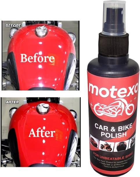 MOTEXO Liquid Car Polish for Metal Parts, Leather, Headlight, Exterior, Dashboard, Chrome Accent, Bumper, Tyres, Windscreen