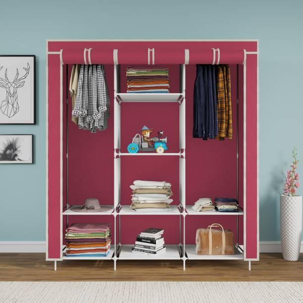 GTC 6+2 Shelves 3 Door 88130 Portable Carbon Steel Collapsible Wardrobe