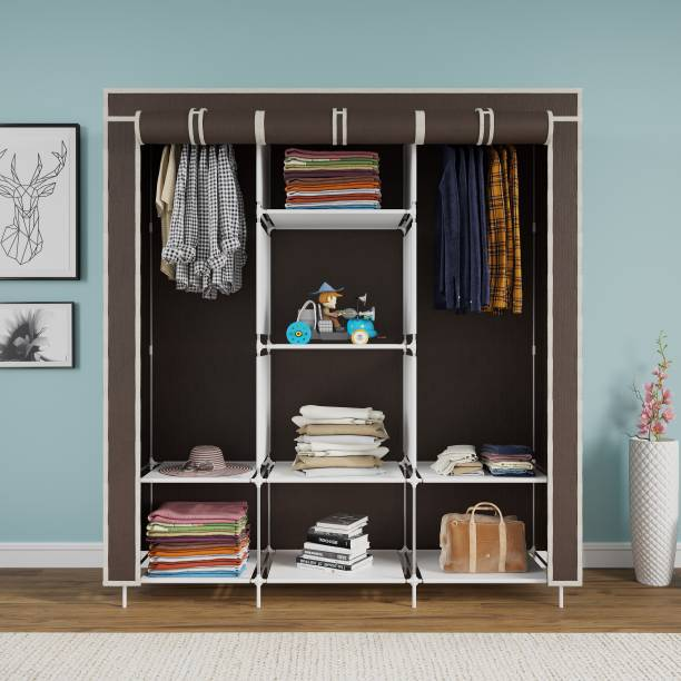 CONTINENTAL 6+2 Shelves Portable 88130 PP Collapsible Wardrobe