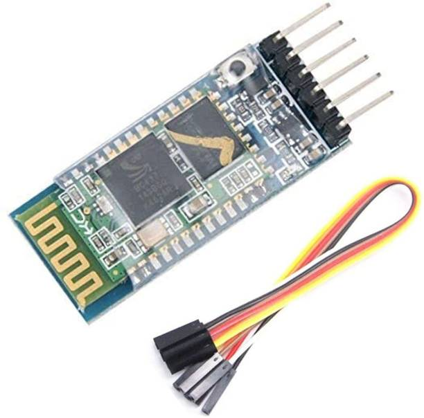 MANDAL22 HC-05 Bluetooth Wireless RF Transceiver Module Master and Slave Mode for Arduino With 6 Pcs F To F Jumper Wire Electronic Components Electronic Hobby Kit