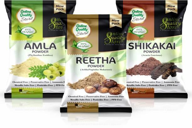 Online Quality Store Reetha Amla Shikakai Powder For Hairs_400g
