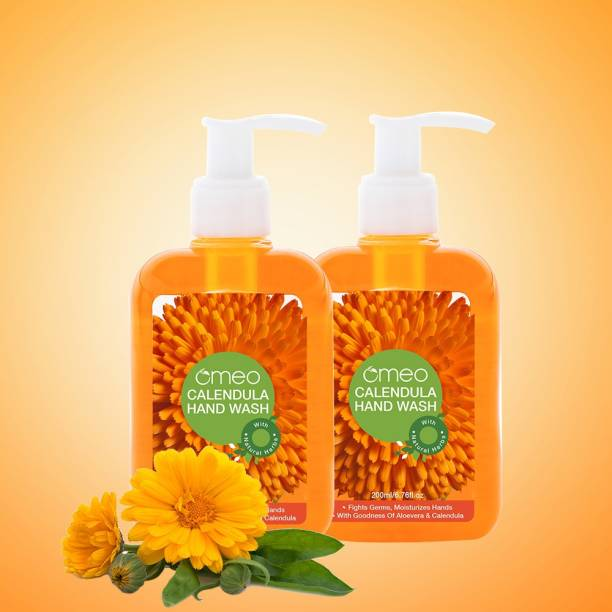 OMEO Calendula Hand Wash Liquid Bottle With Pump Germ Protection | Fight Germs, Moisturizes Hands, With Goodness of Aloe Vera 250ml Hand Wash Pump Dispenser