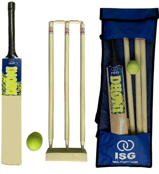 ISG Dhoni Kit Combo For Kids Size 1 (Age Group 6-8 Years) Cricket Kit