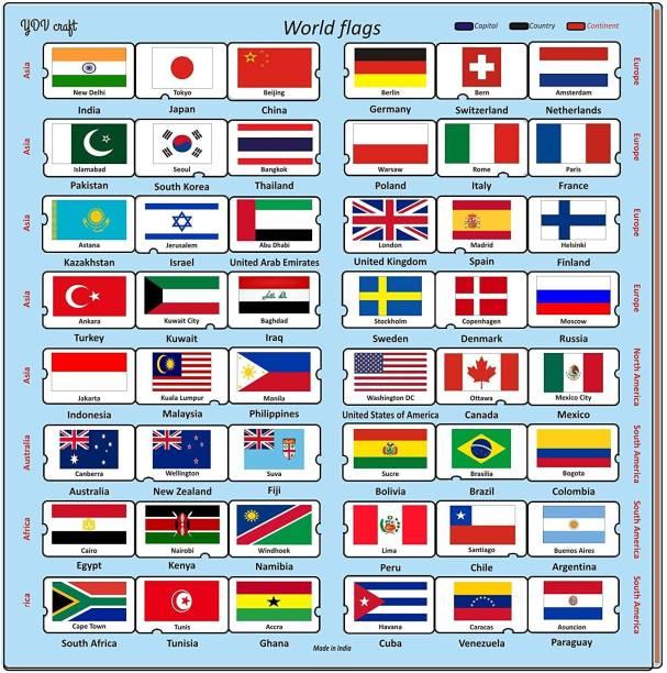 YDV CRAFT National Flag Jigsaw Puzzle for 4-5+, 48 Piece, Multicolour