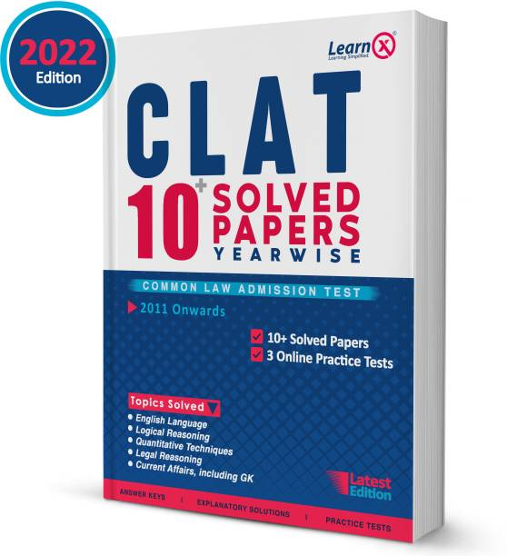 CLAT Solved Papers [Year-Wise] With 3 Online Practice Tests