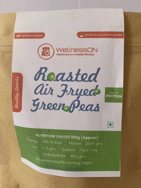 WellnessOn Roasted Air Fryed Green Peas -200g ( Pack of 3)