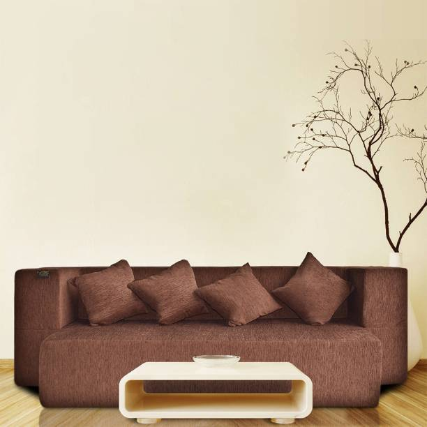 Fresh Up Sofa bed 4 Seater 78x44x14 inches, Washable Morphino Fabric, Dark Brown Single Sofa Bed