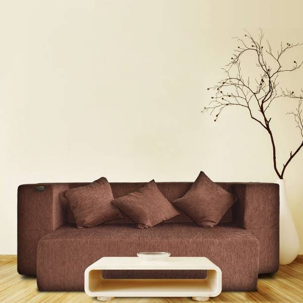 Fresh Up 72x44x14 inches, 3 Seater Sofa cum Bed with 3 Cushions Double Sofa Bed