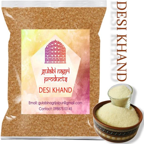 GULABI NAGRI Premium Quality Desi Khand (Raw Sugar) Sugar