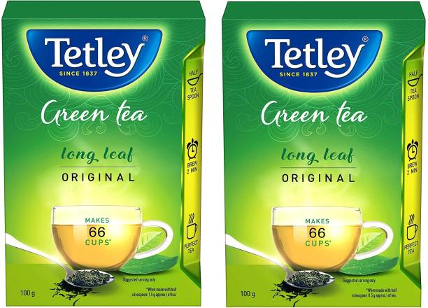 tetley Green Tea Long Leaf Original 100 Gram Pack Of 2 Green Tea Box