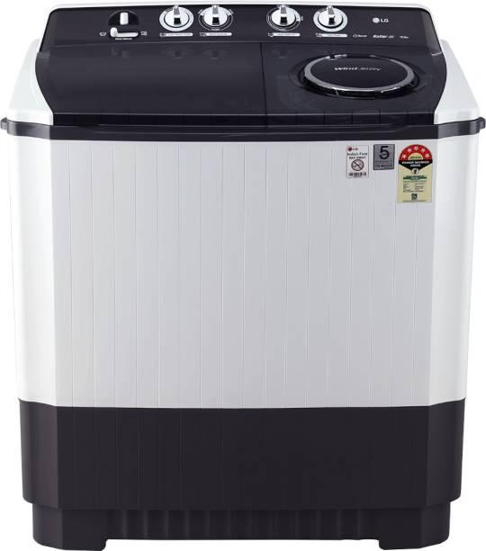 LG 10 kg Semi Automatic Top Load Grey, White