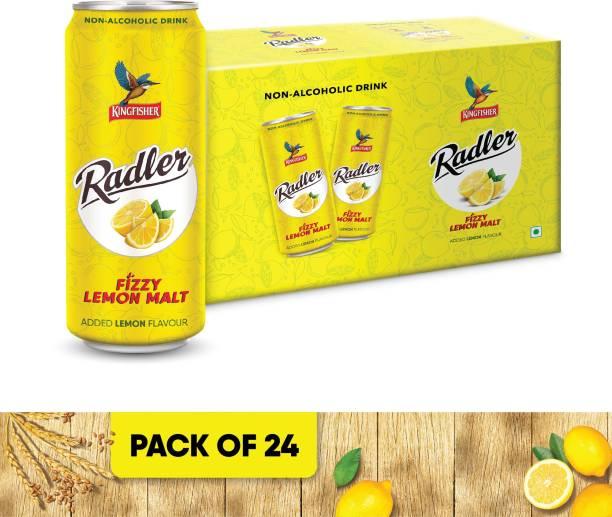 Kingfisher Radler Non Alcoholic Malt Drink - Lemon, 24 x 300 ml Can
