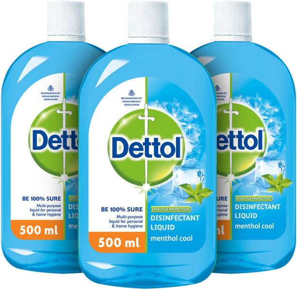Dettol Disinfectant Multi-Use Hygiene Liquid, Menthol Cool - 500 ml Antiseptic Liquid