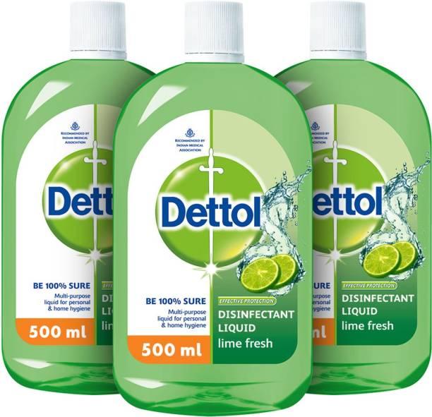 Dettol Multi-use Hygiene Liquid, Lime Fresh - 500 ml Antiseptic Liquid
