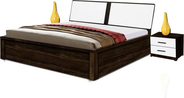 POJ Eden Queen Size Bed Engineered Wood King Hydraulic Bed