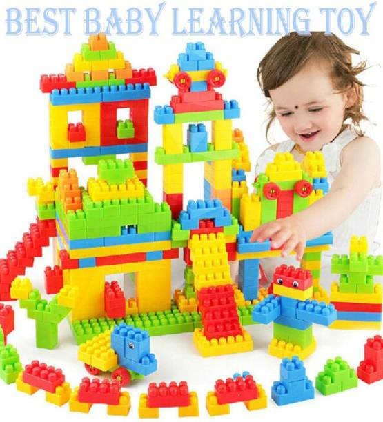 TechHark BEST BABY GIFT Light-Weight 100 Pcs Building Blocks, Creative /Learning Toy/Educational Toy/For Kids Puzzle Assembling Building Unbreakable Kids Toy Set