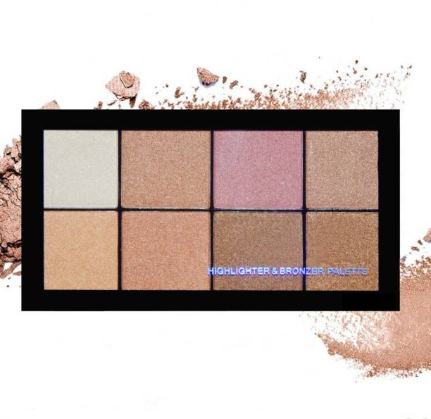 VARS LONDON face makeup highlighter and bronzer combo palette | highlighter palette | bronzer and contour palette |