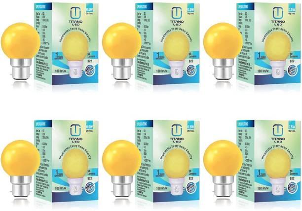 TITANO LED 0.5 W Round B22 LED Bulb