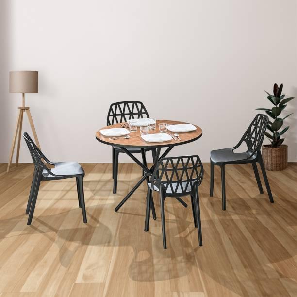 Featherlite Living Stix Tang Engineered Wood 4 Seater Dining Set