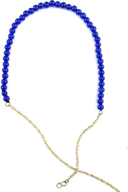 Karatcart Elegant Blue Beads Hair Band