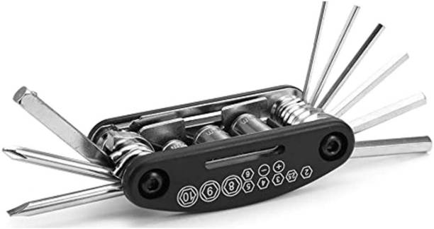 FABSPORTS compact Bike / Bicycle Repair Tool Kits - 16 in 1 Multifunctional Bicycle Mechanic Fix Tools Set Cycling Kit
