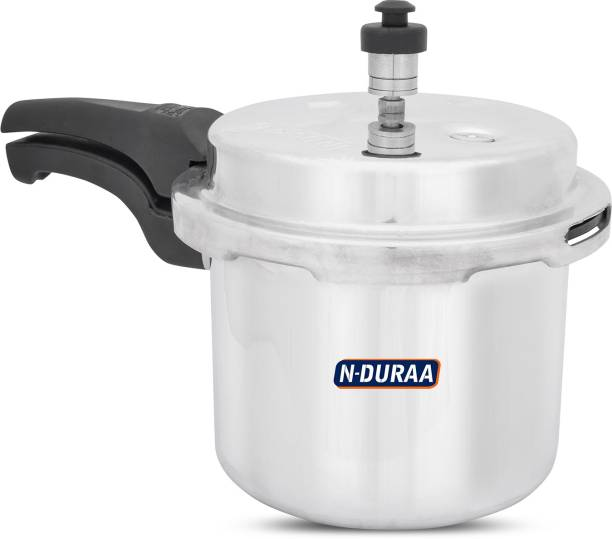 N-DURAA Aluminium Domestic Pressure Cooker 3 Litres|Energy Efficent Cooking|Safe,Withstand high Pressure and Long lasting|ISI Certified|Gas Compatitable 3 L Pressure Cooker