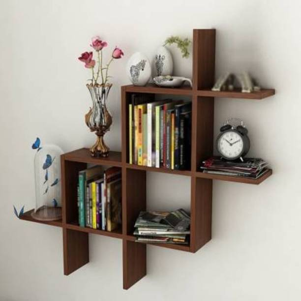 Martemporium New Plus Wooden Wall Shelf for Decor Your Home and Office Engineered Wood Display Unit