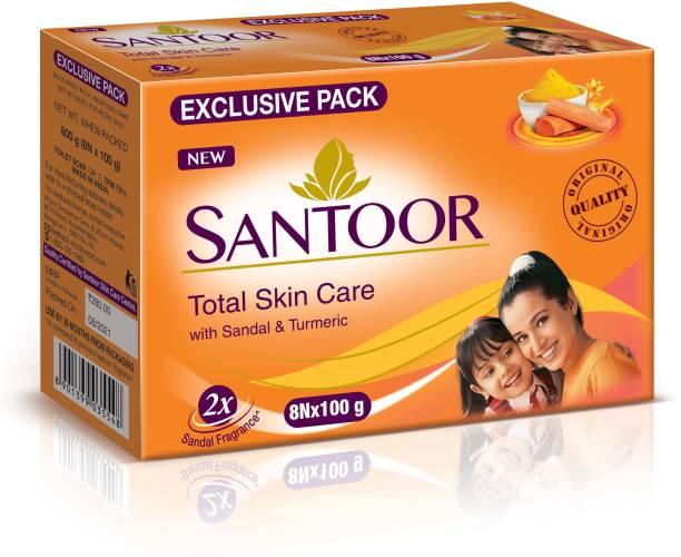 santoor Sandal & Turmeric Soap for Total Skin Care