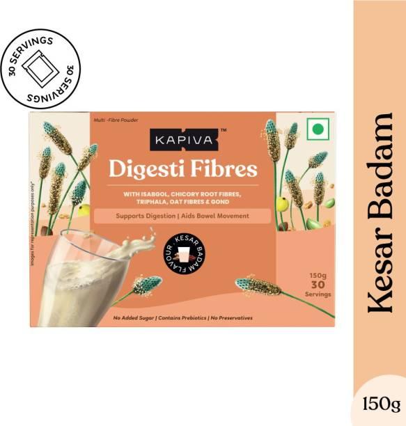 Kapiva Kesar Badam Digesti Fibres - Blend of 4 Fibre for Easy Digestion & Constipation Relief