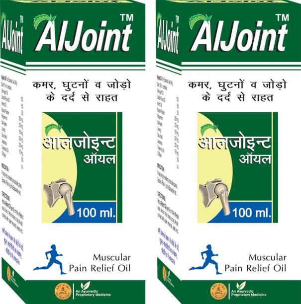 AMBIC Aljoint Pain Relief Oil I Ayurvedic Pain Relief Oil For Joint Pain, Muscular Pain, Rheumatoid Arthritis