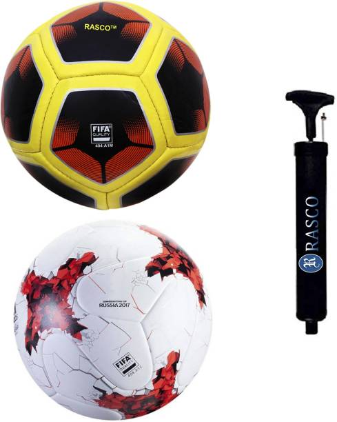 RASCO RUSSIA RED AND 12 PANEL RED WITH PUMP Football - Size: 5
