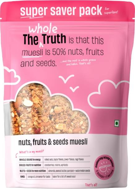 The Whole Truth Breakfast Muesli - Nuts, Fruits, & Seeds   SUPER SAVER PACK  