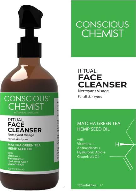 Conscious Chemist Ritual Face Cleanser With Matcha Green Tea & Hemp Seed Oil, 120 Ml