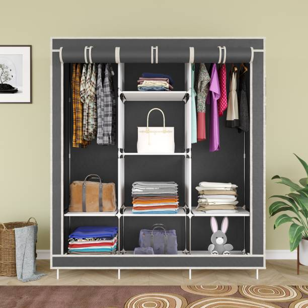 CONTINENTAL 6+2 Layer Collapsible Wardrobe PP Collapsible Wardrobe