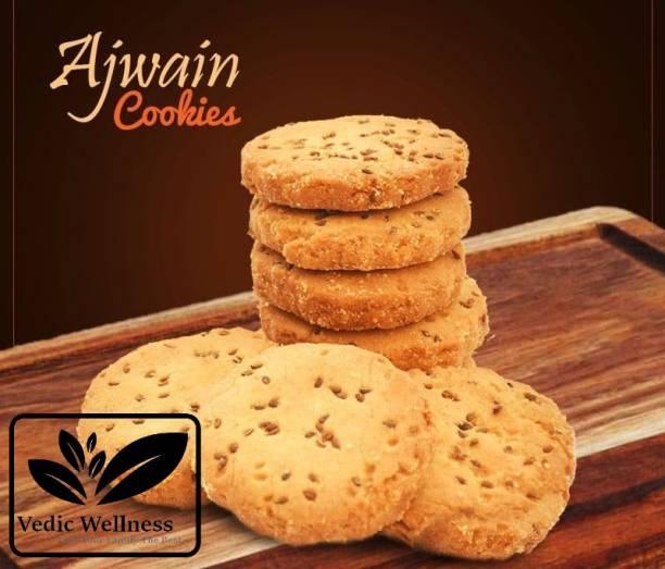 Vedik Wellness Handmade Ajwain Cookies - Crunchy and Tasty Biscuit, Tea Time Snacks Cookies