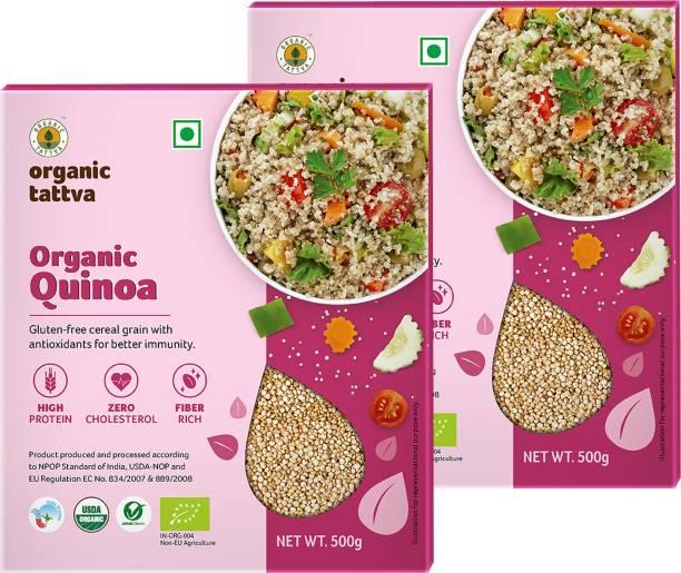 Organic Tattva Organic Quinoa | High in Protein, Fiber, Iron and Omega 3 | Gluten Free, Healthy Breakfast and Diet Food