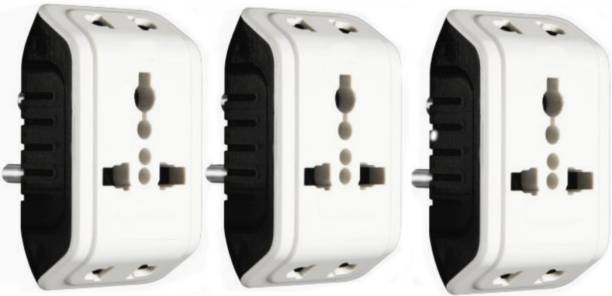 KAVANA Pin Multi Plug with Individual Socket,MULTIPLUG,Power Plug Adapter travel plug 5 A Three Pin Socket