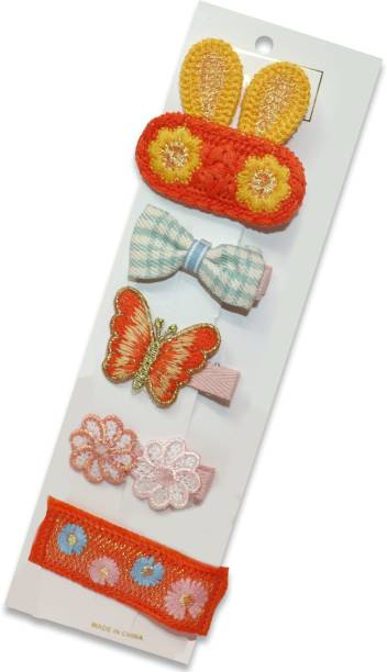 krelin Baby Girl's Korean Version of The Fruit Hairpin for Baby All-Inclusive Card Edge Clip Soft Clip Jewelry 5Pieces Multicolor(orange_1) Hair Pin
