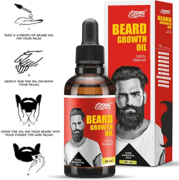 Zorg Advanced and fast Beard Growth Oil for strong and healthy beard growth Hair Oil