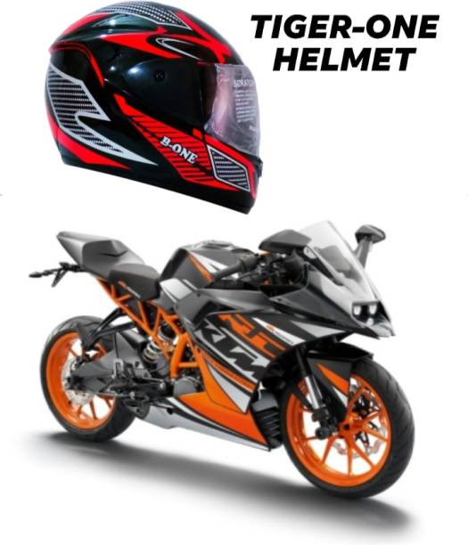 TIGER ONE TIGER-ONE FULL FACE HELMET ( SIZE : L ) Motorbike Helmet , ISI APPROVED Motorbike Helmet