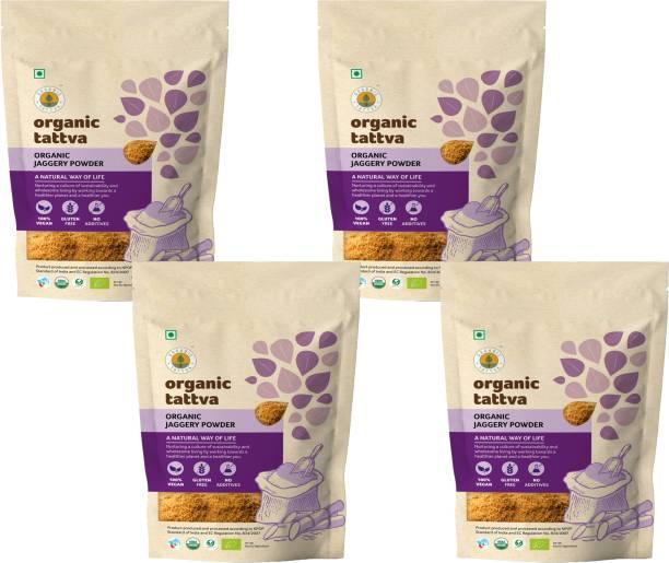 Organic Tattva ,Organic Jaggery (Gur) Powder | Rich in Antioxidants, Minerals, Vitamins and Fatty Acids | Unrefined, Gluten free and Unadulterated | Powder Jaggery