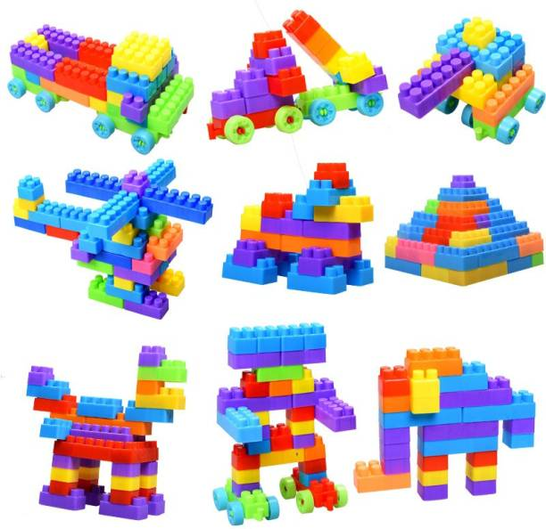 TechHark [Pack of 401+pcs D-I-Y Blocks] SMALL SIZE D-I-Y BEST BABY GIFT Light-Weight Building Blocks, Creative /Learning Toy/Educational Toy/For Kids Puzzle Assembling Building Blocks Kids Toy Set