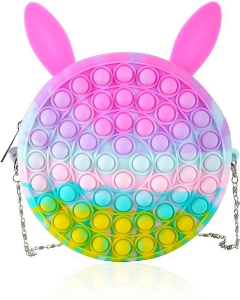 TOTAM Pop Bubble Fidget Toy Shoulder Bag, Simple Sensory Silicone Stress Relief Pop Fidget Handbag for Kids, Girls, Ladies