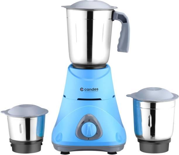 Candes Bolt 550 Mixer Grinder (3 Jars, Blue, Grey)