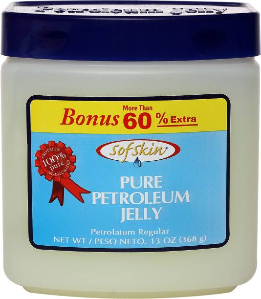 Sofskin (American Brand) 100% PURE WHITE PETROLEUM JELLY - No smell - 368 gm