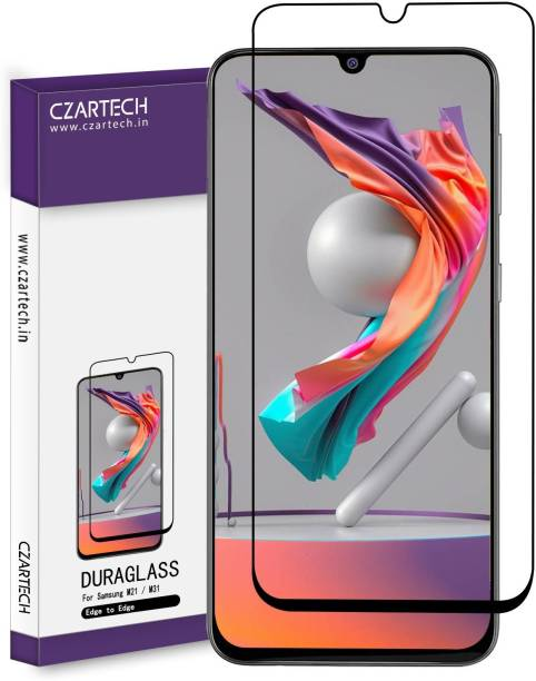 CZARTECH Edge To Edge Tempered Glass for Samsung Galaxy M31, M21,M30,M30S,M10S,A20,A30,A50,A50S,A30S